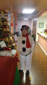 Frosty the Snowman came to visit the participants of SRADCC!