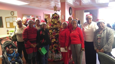 Wellness Group volunteered their time to sing holiday carols!