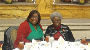 Like mother like daughter  (L)A. Brown and  (R) M. Parham enjoy lunch at the Jefferson Hotel